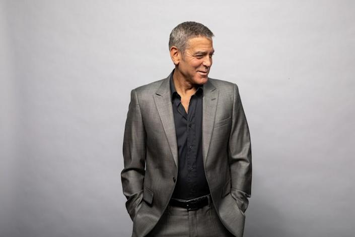 """** FOR ENVELOPE ACTOR ROUNDTABLE ISSUE RUNNING in 2021. DO NOT USE PRIOR**STUDIO CITY, CA - NOVEMBER 04: Actor and director George Clooney is photographed in promotion of his upcoming film, """"The Midnight Sky,"""" in the driveway, of his Studio City, CA, home, on Wednesday, Nov. 4, 2020. Clooney stars in and directs the Netflix film, set to release in Decmember 2020. (Jay L. Clendenin / Los Angeles Times)"""