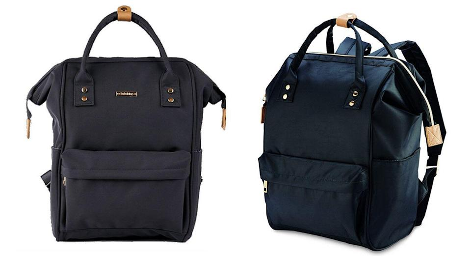 Spot the difference: The Bababing Mani baby changing bag (left) and the Aldi bag. [Photo: Bababing/Aldi]