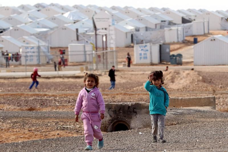 Jordan says it has taken in 655,000 Syrian refugees since the start of the conflict, with 54,000 housed at the Azraq camp (pictured) in the north (AFP Photo/Khalil MAZRAAWI)