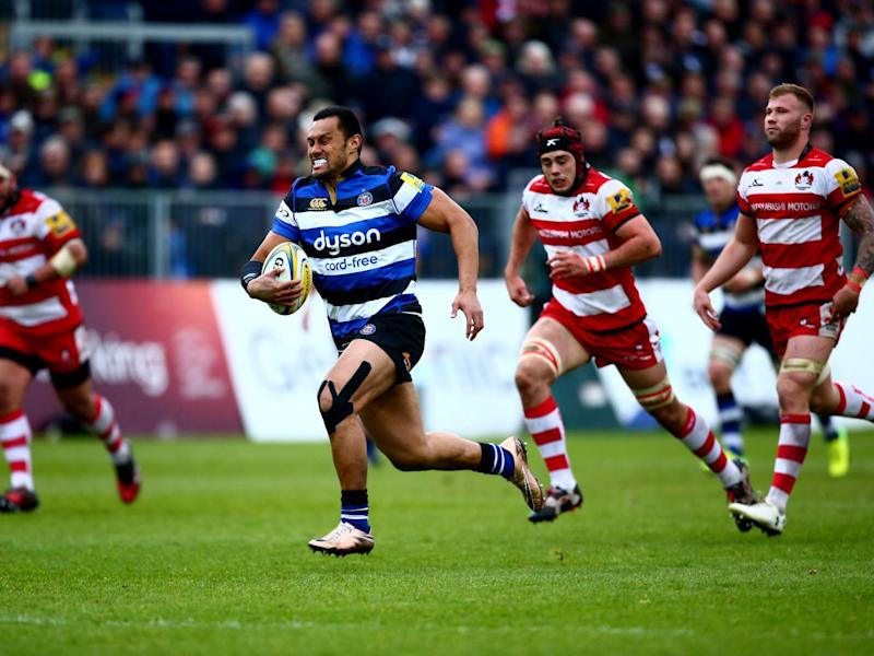 Robbie Fruean breaks free to score for Bath (Getty)