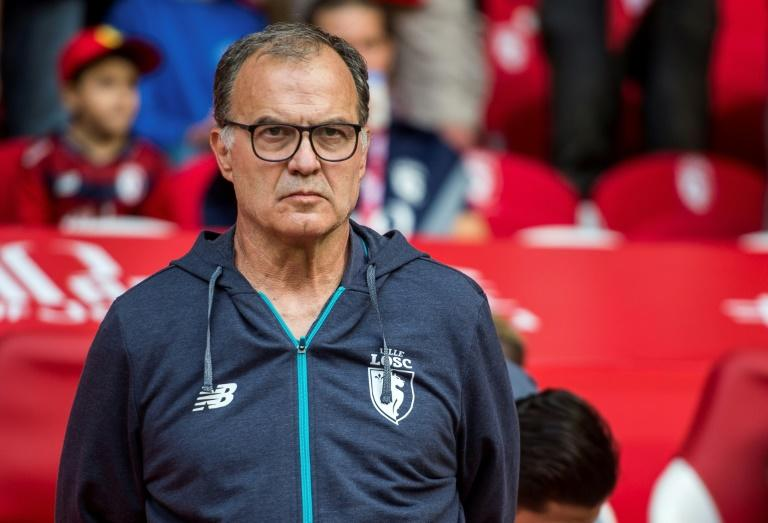 Lille's Argentinian head coach Marcelo Bielsa, pictured on August 5, 2017, experienced his first defeat with the team, as Lille lost two players to injury early in the game and suffered a 0-3 loss to Strasbourg