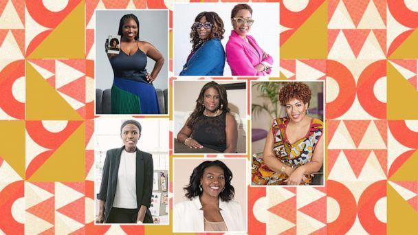Black female small business owners share their advice during Black History Month. (ABC Photo Illustration)