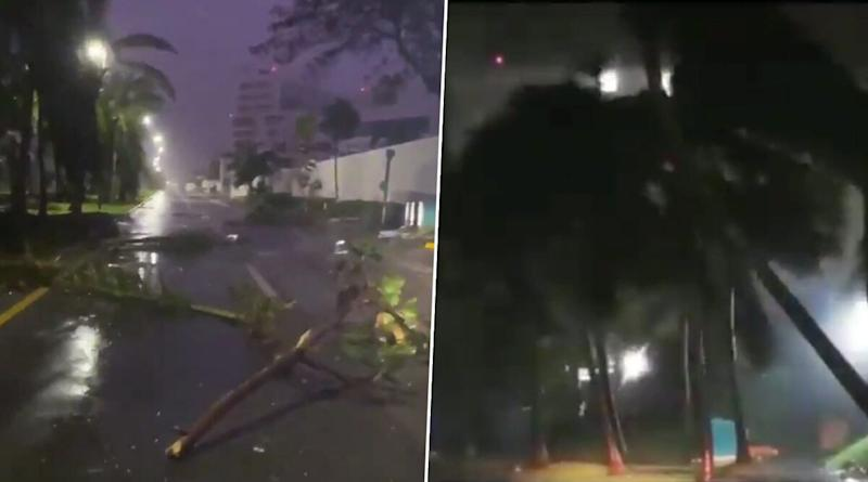 Hurricane Delta Scary Videos: Netizens Share Clips of Strong Winds and Rainfall in Parts of Mexico as Category 4 Storm Weakens and Makes Landfall