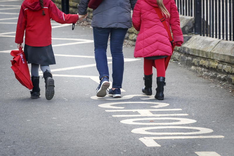 Embargoed to 0001 Sunday May 17 File photo dated 13/03/20 of children leaving a school. The Scottish Government has been accused of failing children with additional support needs as figures showed the number of specialist teachers has fallen by more than 1,000 over the last decade.