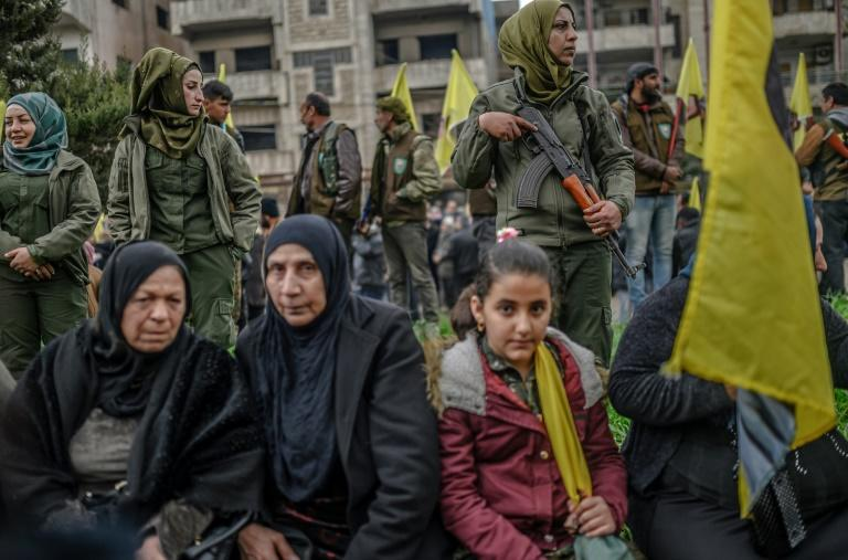 """Kurdish fighters have spearheaded the fight against IS since late 2014, but neighbouring Turkey views them as """"terrorists"""""""