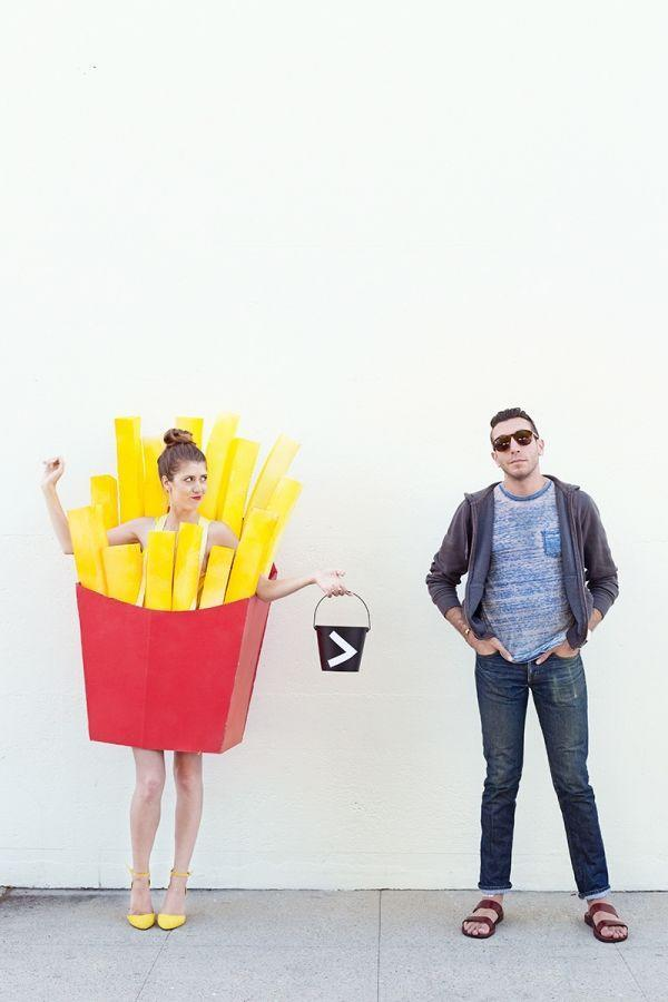 """<p>You'll need to paint the """"fries"""" in this kitschy get-up in order to really make them pop. But you can always opt for yellow pool noodles instead!</p><p><strong>Get the tutorial at <a href=""""https://studiodiy.com/2015/09/22/diy-fries-before-guys-costume/"""" rel=""""nofollow noopener"""" target=""""_blank"""" data-ylk=""""slk:Studio DIY"""" class=""""link rapid-noclick-resp"""">Studio DIY</a>.</strong></p><p><a class=""""link rapid-noclick-resp"""" href=""""https://www.amazon.com/Childrens-Swim-Noodles/b?ie=UTF8&node=1258888011&tag=syn-yahoo-20&ascsubtag=%5Bartid%7C10050.g.4616%5Bsrc%7Cyahoo-us"""" rel=""""nofollow noopener"""" target=""""_blank"""" data-ylk=""""slk:SHOP POOL NOODLES"""">SHOP POOL NOODLES</a></p>"""