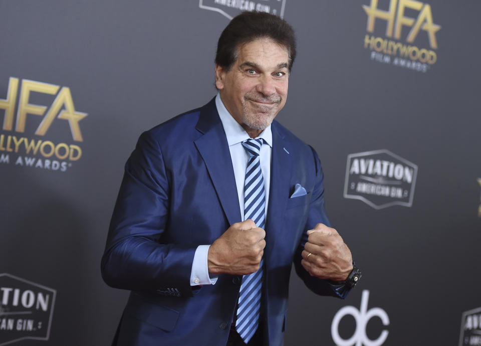 Lou Ferrigno arrives at the Hollywood Film Awards on Sunday, Nov. 4, 2018, at the Beverly Hilton Hotel in Beverly Hills, Calif. (Photo by Jordan Strauss/Invision/AP)