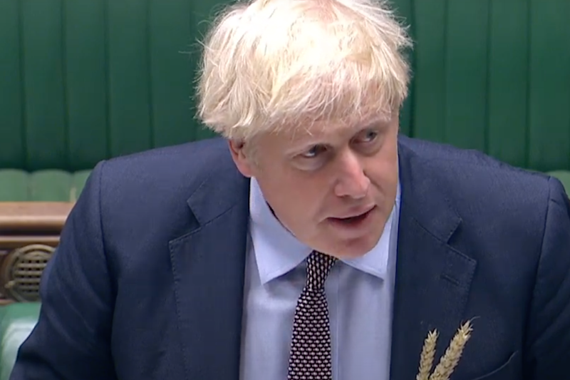 Mr Johnson at PMQs today