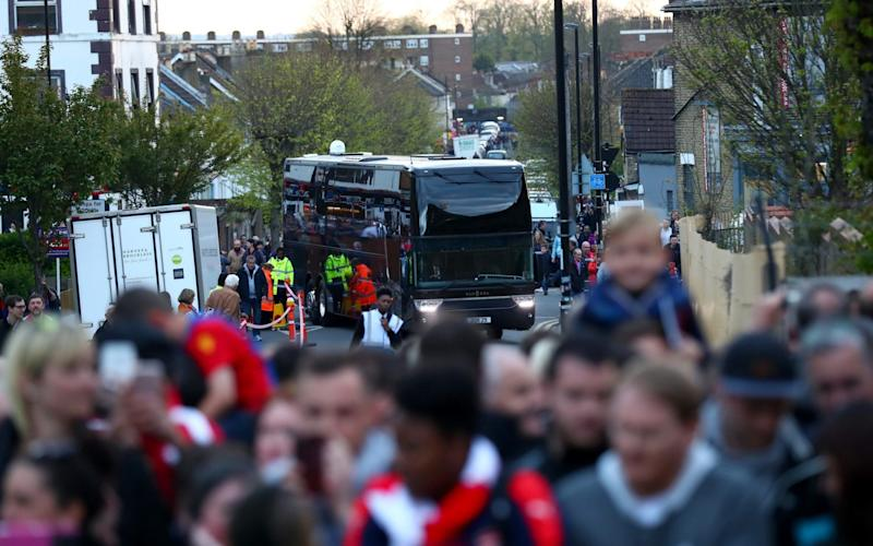 Arsenal arrived late - Credit: Getty