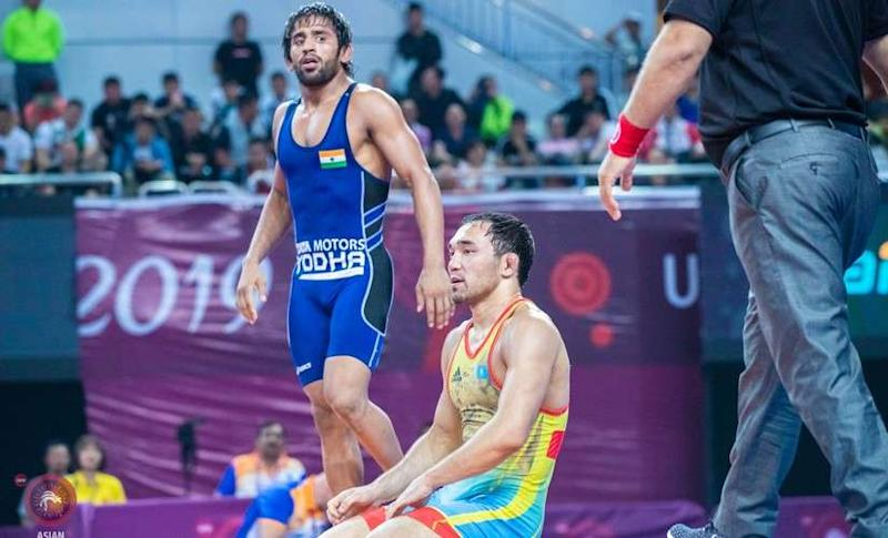 India's Bajrang Punia is the top seed in the 65kg freestyle category. Image courtesy: Wrestling Federation of India