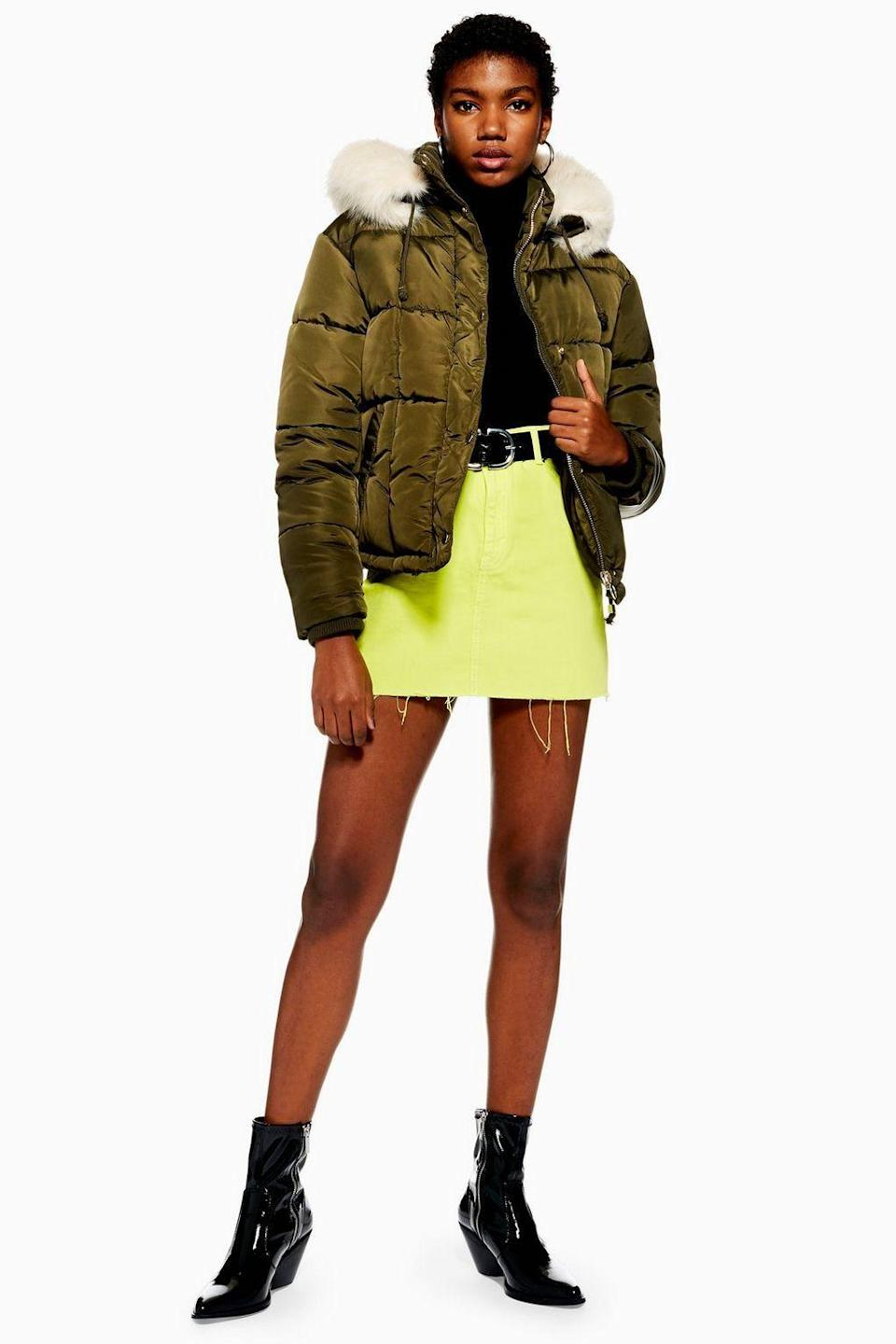 Topshop Faux Fur Lined Puffer Jacket (Photo: Topshop)