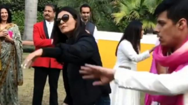 Sushmita Sen shared videos from her nephew's wedding in Delhi. In the videos, the actress can be seen dancing her heart out with her family and daughter Alisah.
