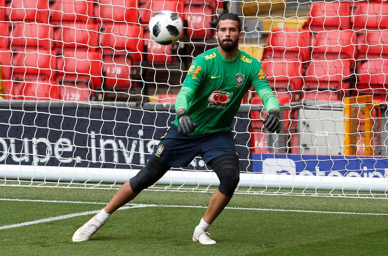 Liverpool's Alisson suffers shoulder injury, out of Brazil qualifiers