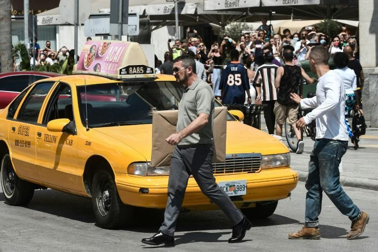 Spanish star Antonio Banderas (centre) and a New York cab in Thassaloniki are just two visible signs of the flurry in filmmaking in Greece