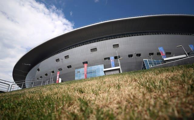 The Gazprom Arena in St Petersburg could host crowds of up to 50 per cent