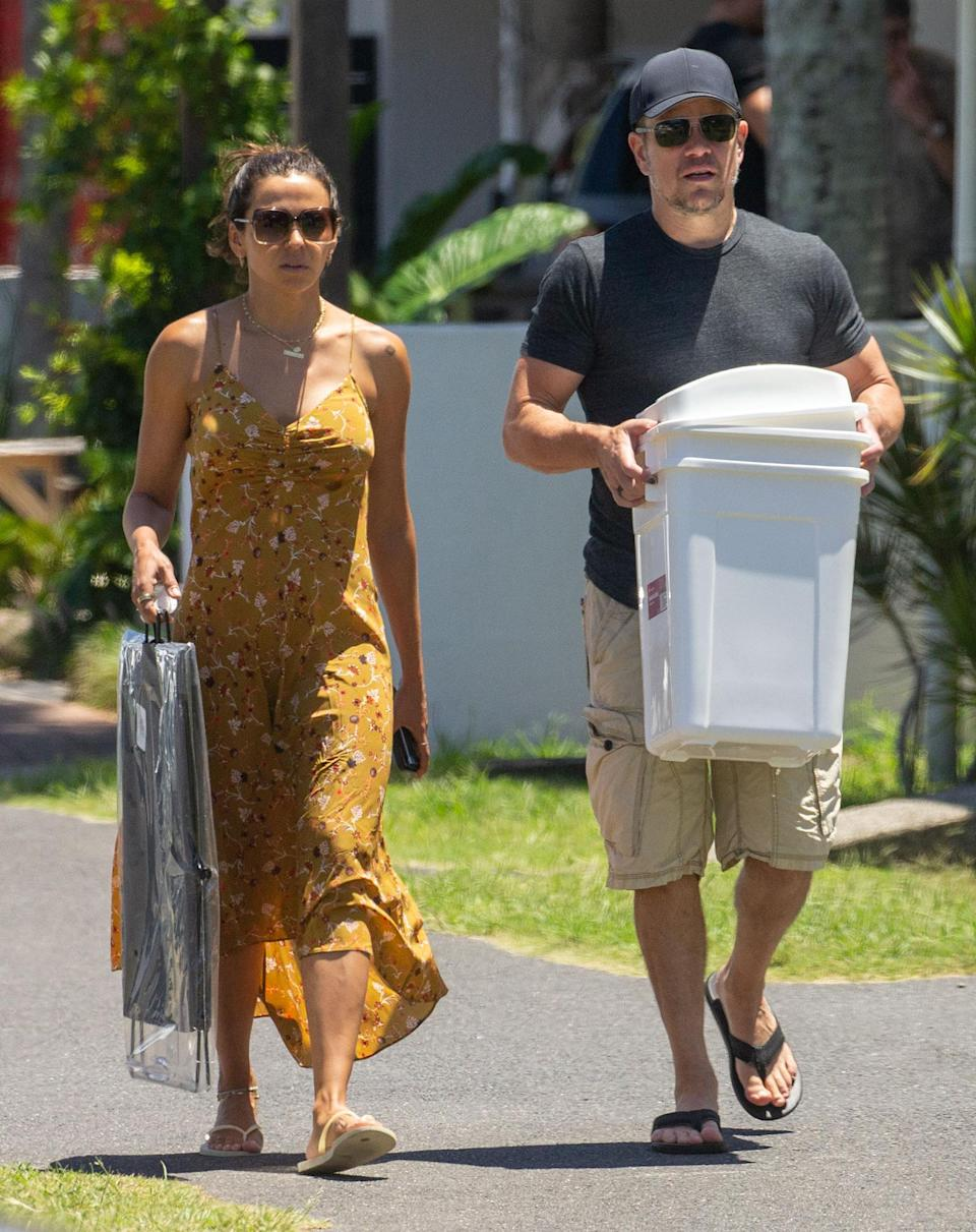 <p>Matt Damon and wife Luciana grab some essentials on Friday in Byron Bay, Australia. </p>