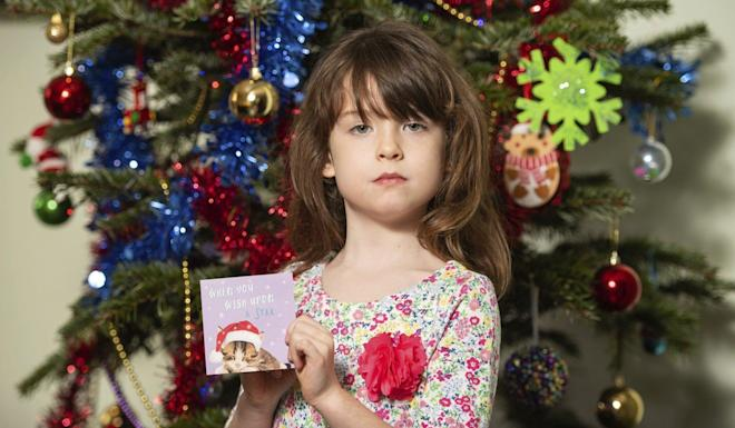 Florence Widdicombe, six, found the message in a Tesco card. Photo: AP