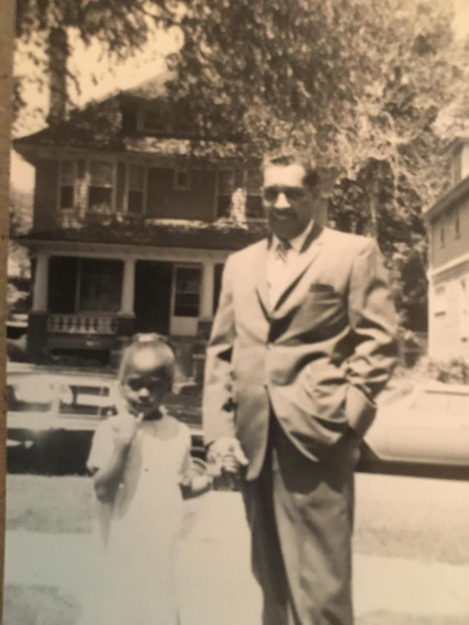 Kristin and her father in Detroit, circa 1965.