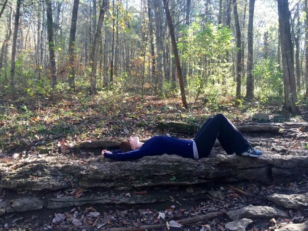 Kicked back in the forest!