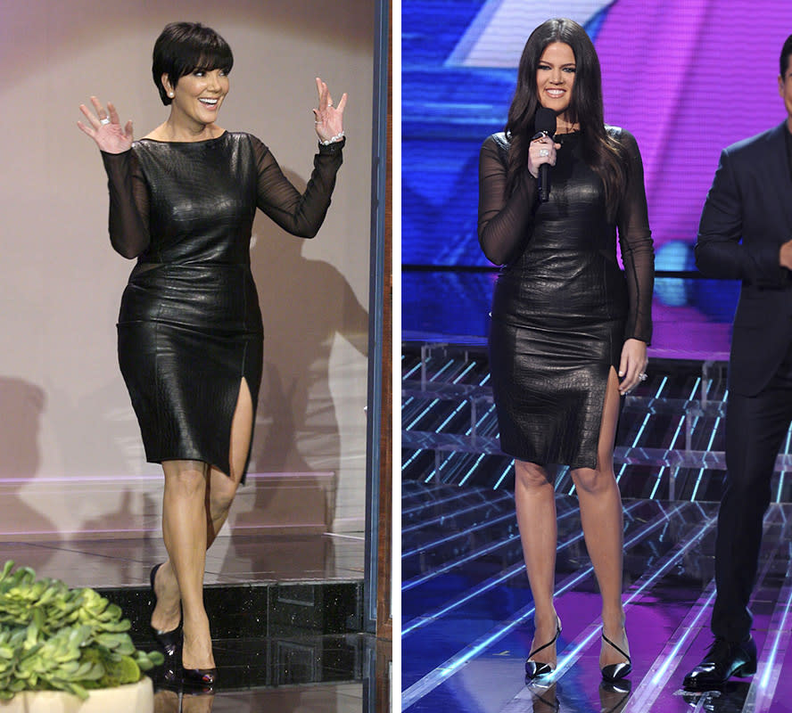 "THE TONIGHT SHOW WITH JAY LENO -- Episode 4356 -- Pictured: Kris Jenner arrives on November 20, 2012 -- (Photo by: Paul Drinkwater/NBC/NBCU Photo Bank) right HOLLYWOOD, CA - NOVEMBER 7: (L-R) Hosts Khloe Kardashian Odom and Mario Lopez onstage at FOX's ""The X Factor"" Season 2 Top 12 Live Performance Show on November 7, 2012 in Hollywood, California. (Photo by FOX via Getty Images)"