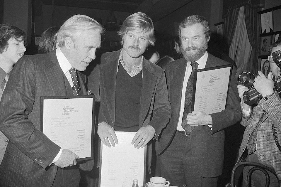 <p>Fresh from <em>All the President's Men</em>, Redford at 40 had one of the best mustaches in Hollywood history. Also, a phenomenal sweater, shirt, and sport coat combination. </p>