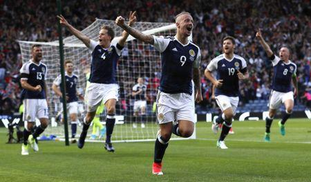 Scotland v England - 2018 World Cup Qualifying European Zone - Group F - Hampden Park, Glasgow, Scotland - June 10, 2017 Scotland's Leigh Griffiths celebrates scoring their second goal  Action Images via Reuters / Lee Smith Livepic