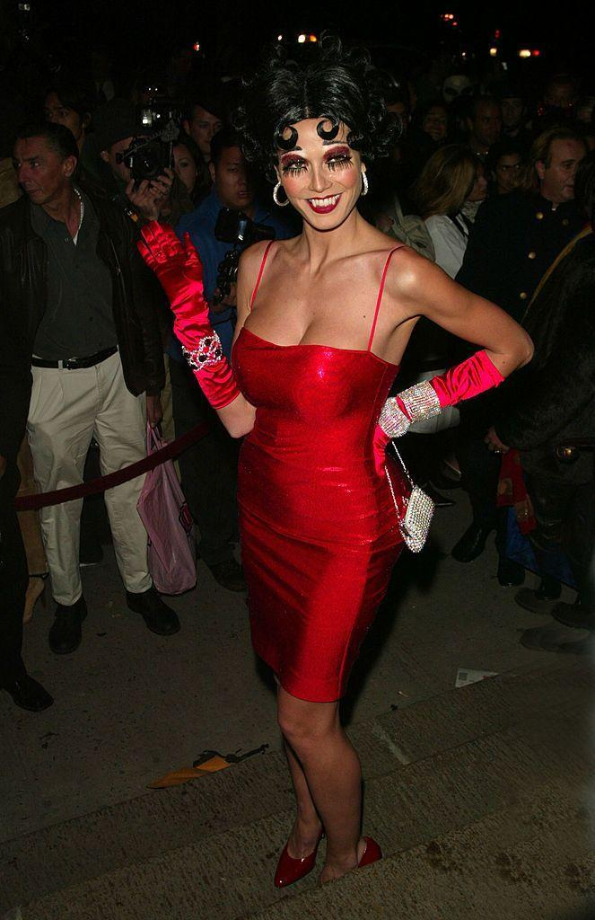 <p>Heidi brought the sultry animated character to life with this simple 2002 costume. </p>