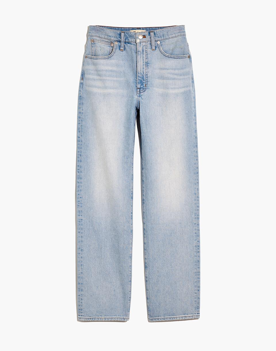 The Perfect Vintage Straight Jean in Fitzgerald Wash. Image via Madewell.