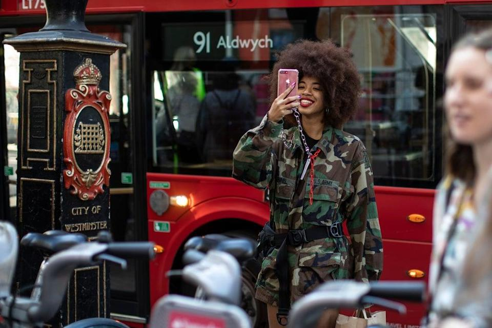 Attendee at LFW (Getty Images)