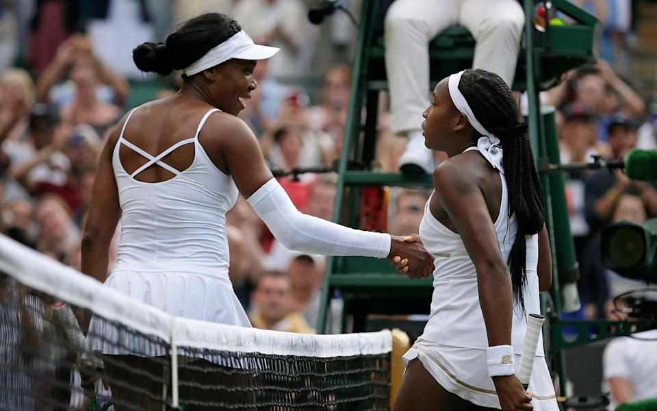 Venus Williams and Coco Gauff played a classic first round tie in 2019 - AP