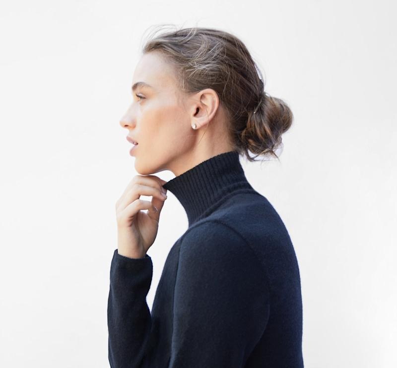 The new cashmere turtleneck by Who Shirt Company.