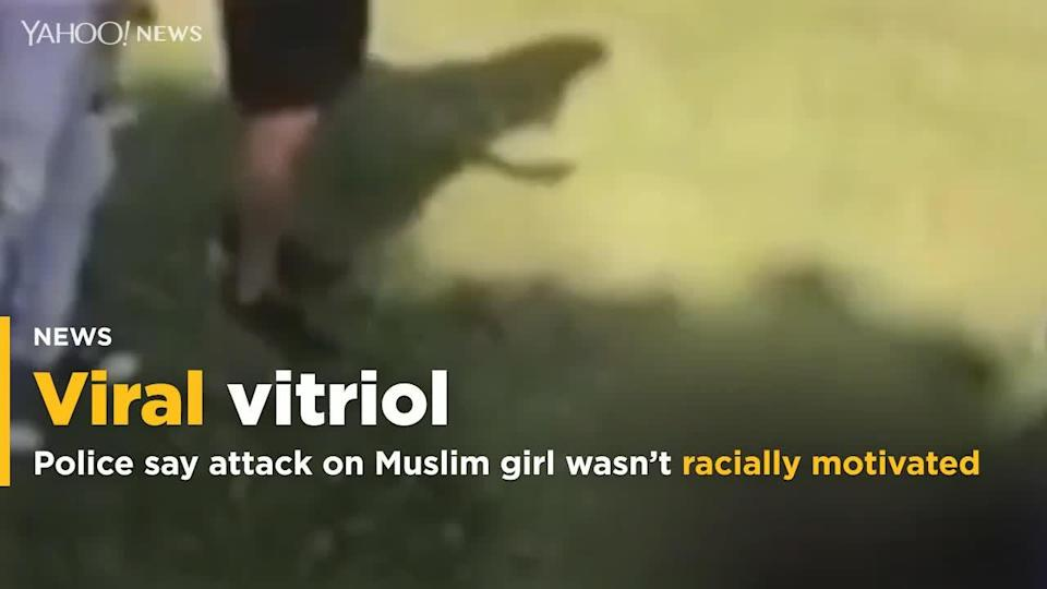Police are denying an attack on a 14-year-old Muslim girl, which was caught on video and went viral, was a hate crime, saying instead that it was over a boyfriend.