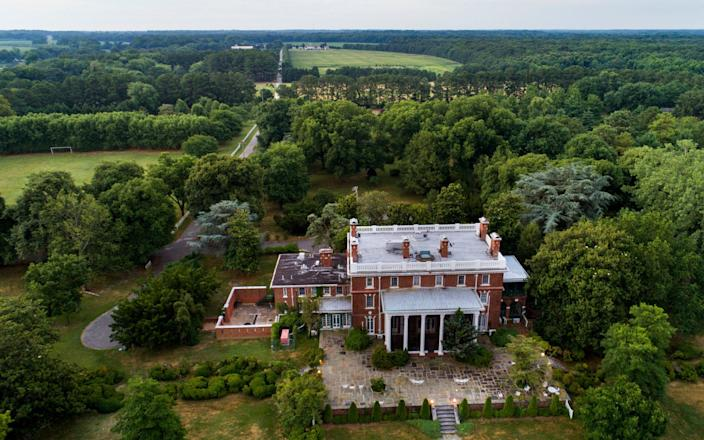 An aerial view of the 45 acre Russian diplomatic estate near Centreville, Maryland - EPA
