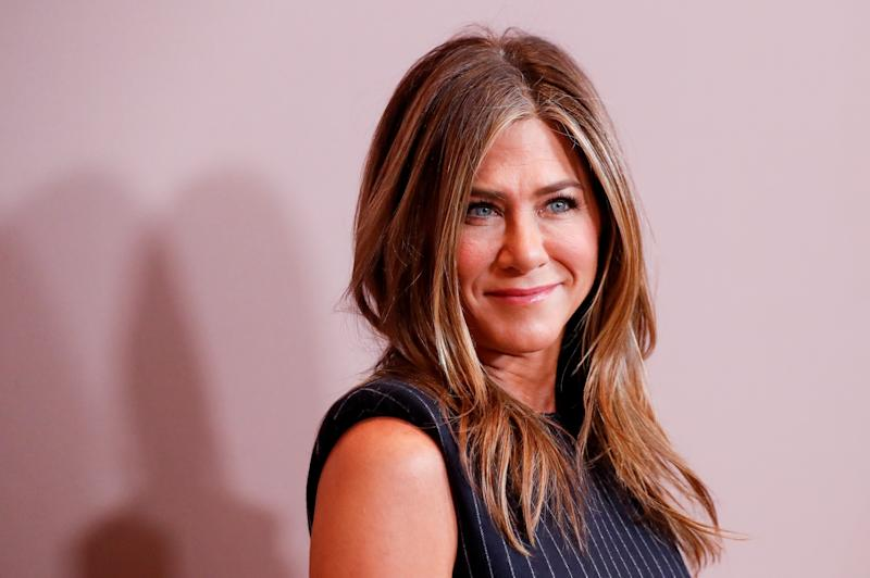 Actor Jennifer Aniston looks on as she attends Variety's 2019 Power of Women: Los Angeles, in Beverly Hills, California, U.S., October 11, 2019. REUTERS/Mario Anzuoni
