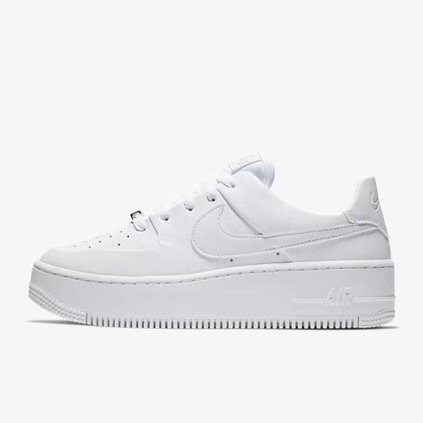 """Never underestimate the power of an everyday sneaker. These Air Force 1s from Nike are ideal because their crisp, white colorway is a guarantee to make all your outfits look effortless. Plus, they still look great when they get a little scuffed up. $100, Nike. <a href=""""https://www.nike.com/t/air-force-1-sage-low-womens-shoe-b0cz8K/AR5339-100"""">Get it now!</a>"""