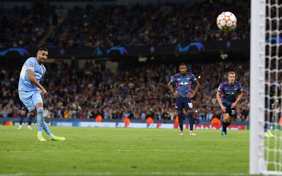 Mahrez buries his penalty - Charlotte Wilson/Offside/Offside via Getty Images