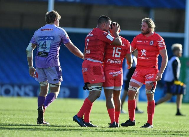 Toulouse's players were left downtrodden
