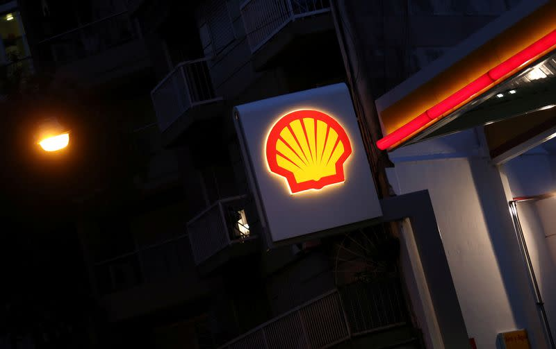 A Shell logo is seen at a gas station in Buenos Aires