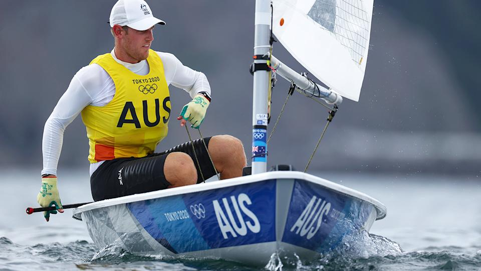 Matt Wearn, pictured here competing in the Men's Laser class at the Tokyo Olympics.