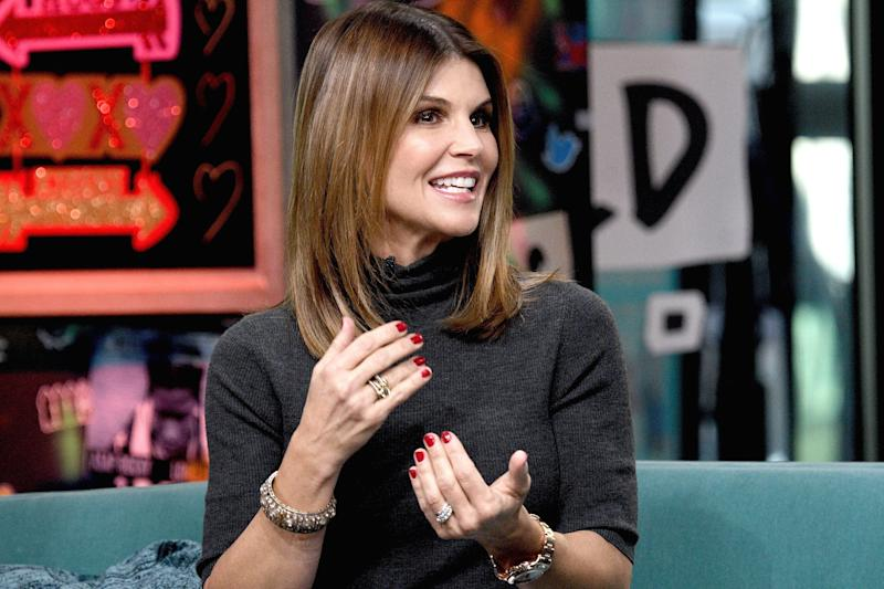 NEW YORK, NEW YORK - FEBRUARY 14: Actress Lori Loughlin visits the Build Brunch to discuss the Hallmark Channel TV series 'When Calls the Heart' at Build Studio on February 14, 2019 in New York City. (Photo by Gary Gershoff/Getty Images)