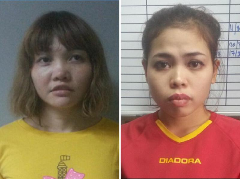 Vietnamese Doan Thi Huong and Indonesian Siti Aisyah deny carrying out the killing and say they were duped into believing they were taking part in a reality TV show (AFP Photo/Handout)