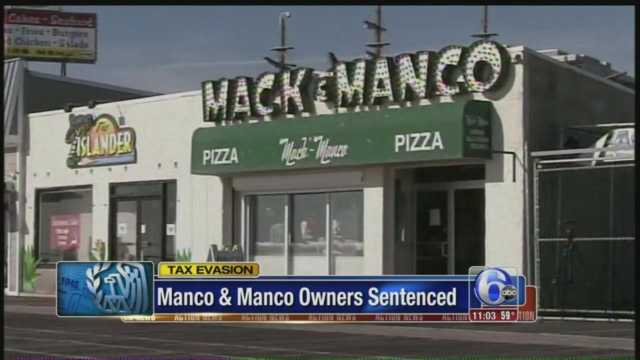 The owners of a popular Jersey shore pizza restaurant chain were sentenced Friday for evading taxes and lying to the IRS.