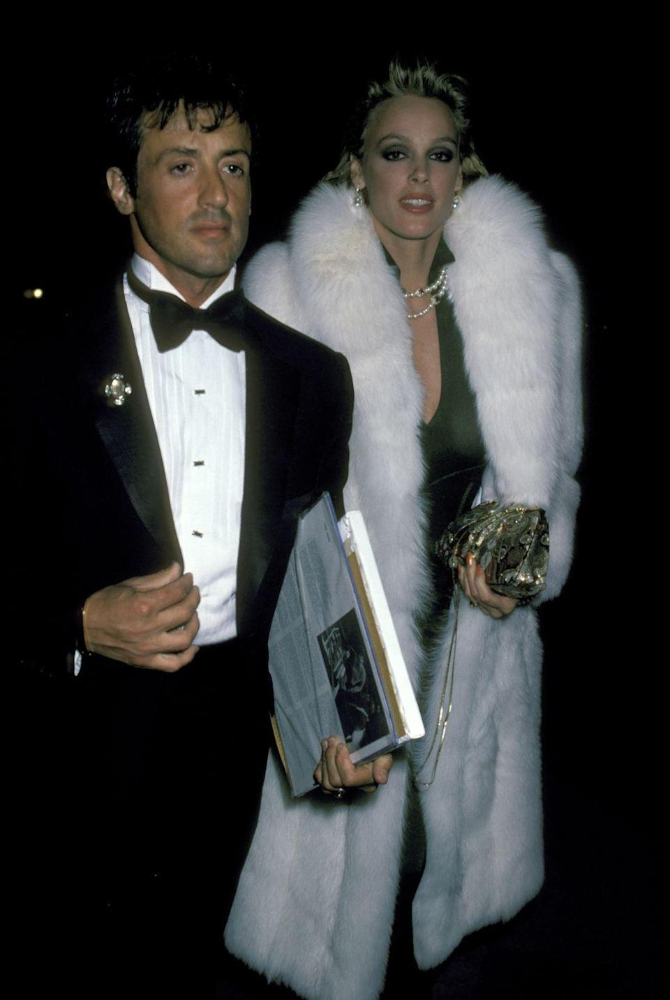 <p>Sylvester Stallone and Brigitte Nielsen painted the town red in the mid-'80s. </p>