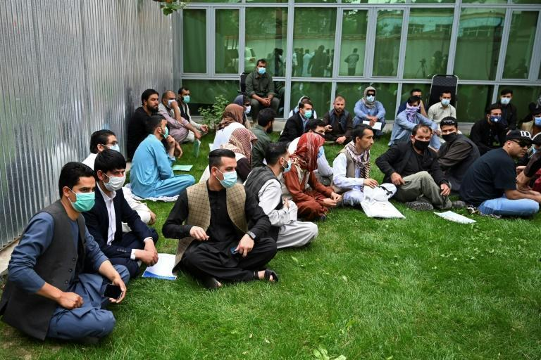 Afghan former interpreters for the US and NATO forces fear retribution by the Taliban and want to flee to the United States and other western countries