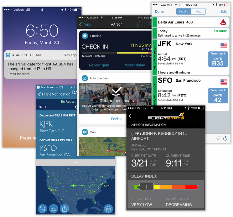 Today's flight apps can access real-time FAA databases, to your benefit.