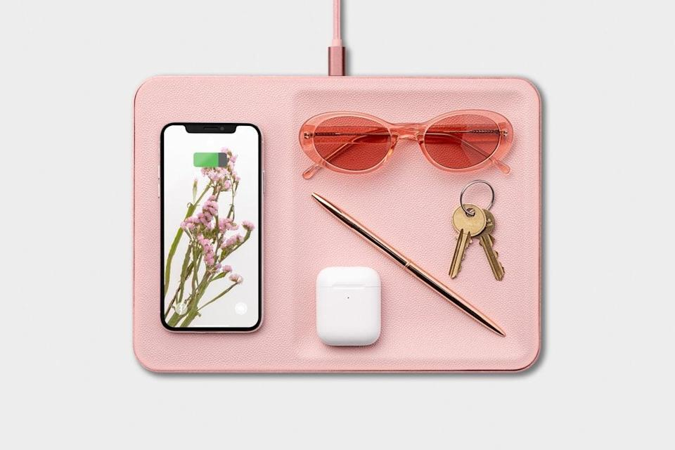 <p>This beautiful <span>Courant Catch</span> ($175) is both a tray and a wireless charger. It comes in a bunch of colors, but I love the pink.</p>