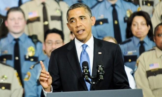 President Obama speaks at the Minneapolis Police Department Special Operations Center on Feb. 4.