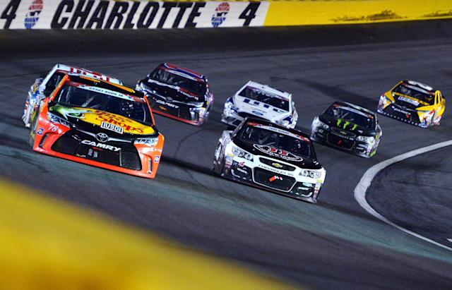 There will be sticky stuff near the wall in this year's Coca-Cola 600. (Getty)