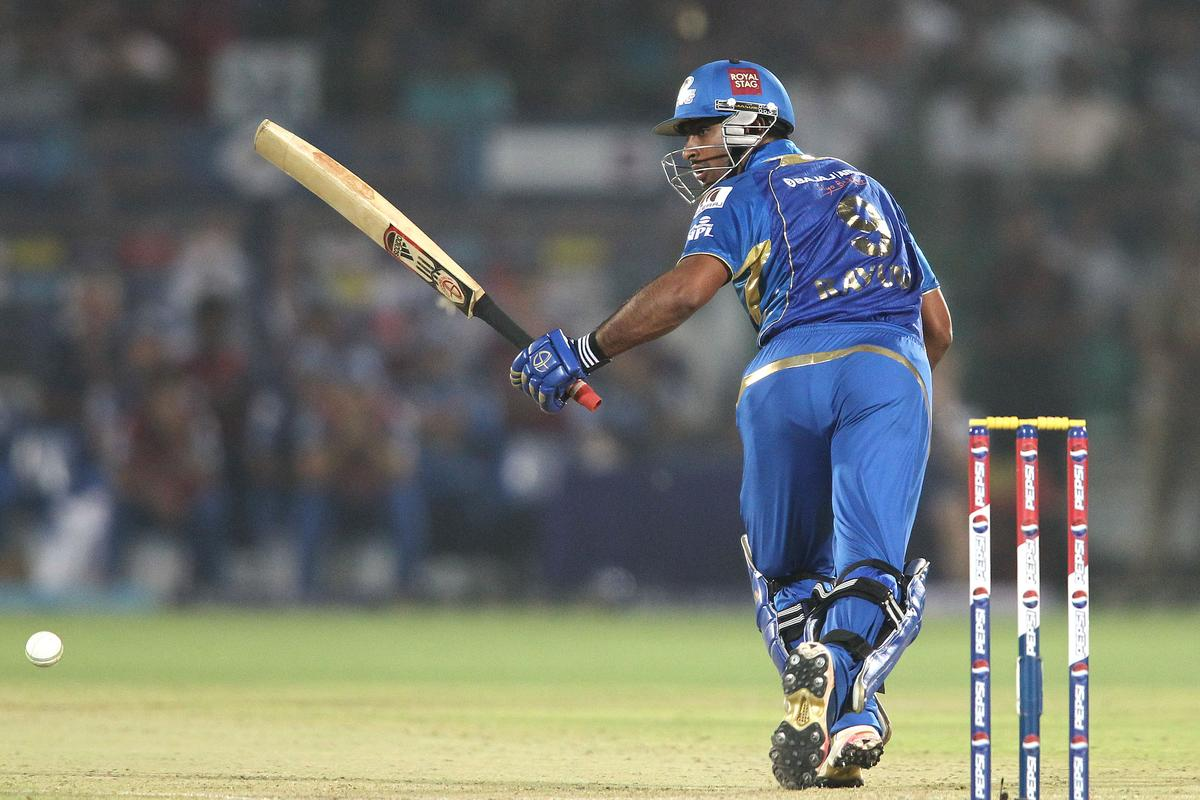 Ambati Rayudu of Mumbai Indians looks for a run during match 23 of the Pepsi Indian Premier League (IPL) 2013 between The Rajasthan Royals and the Mumbai Indians held at the Sawai Mansingh Stadium in Jaipur on the 17th April 2013..Photo by Shaun Roy-IPL-SPORTZPICS  ..Use of this image is subject to the terms and conditions as outlined by the BCCI. These terms can be found by following this link:..https://ec.yimg.com/ec?url=http%3a%2f%2fwww.sportzpics.co.za%2fimage%2fI0000SoRagM2cIEc&t=1490392861&sig=FAGwgJJHhUQl_hPtmJtr3A--~C