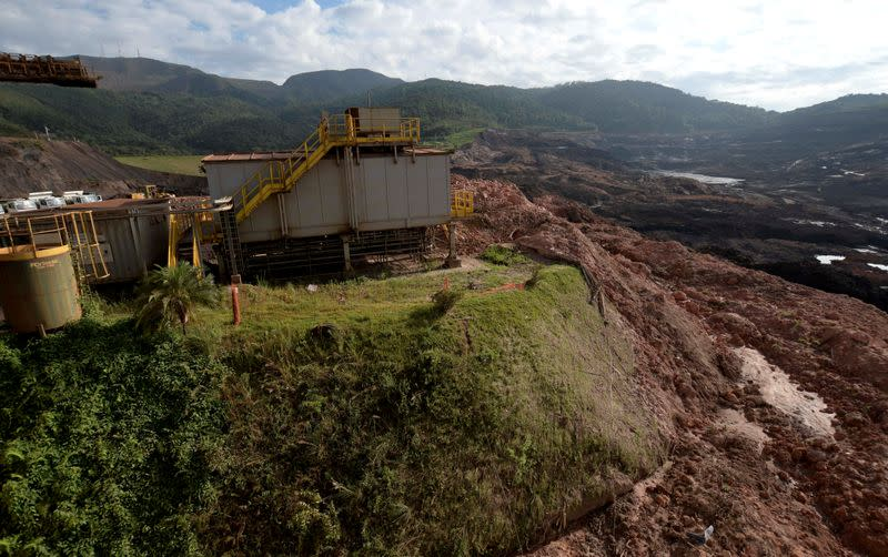 FILE PHOTO: A view of a collapsed tailings dam owned by Brazilian mining company Vale in Brumadinho